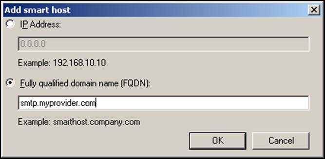 Exchange 2007 smarthost