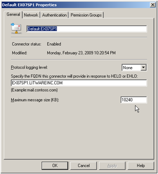 521 server does not accept mail: