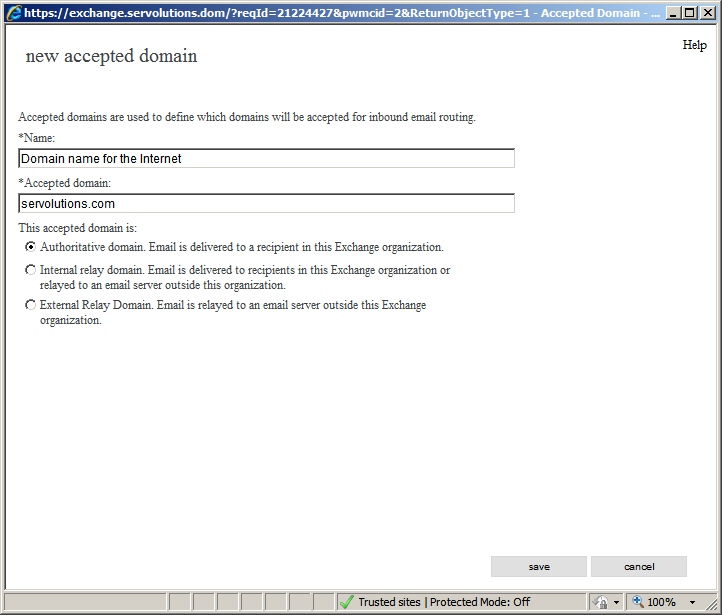 Install an Exchange server for two domains with different ...