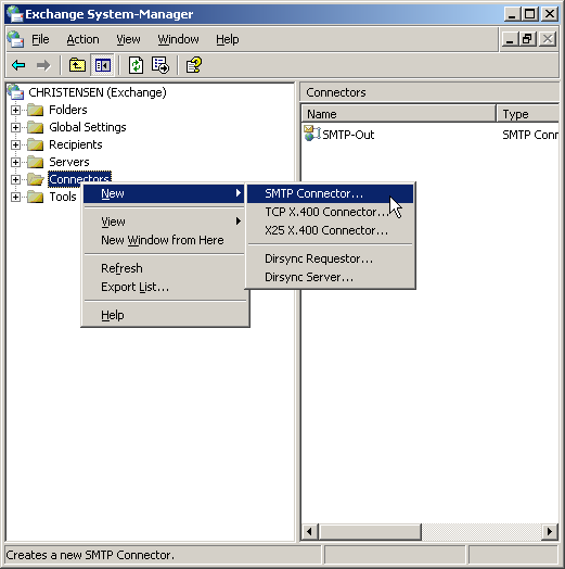 Exchange 2003 configuration step by step