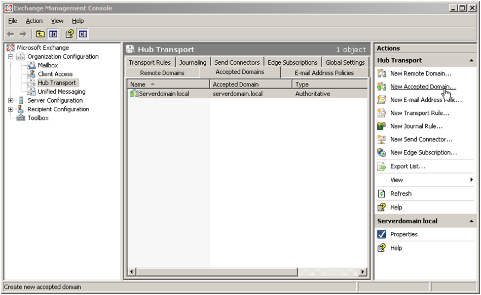 Exchange 2010 configuration